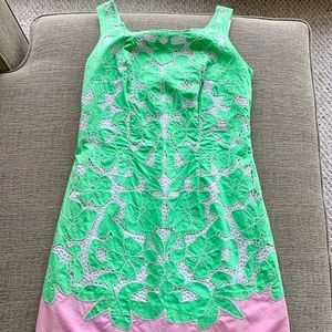 Lily Pulitzer Cotton pink & green dress size 0